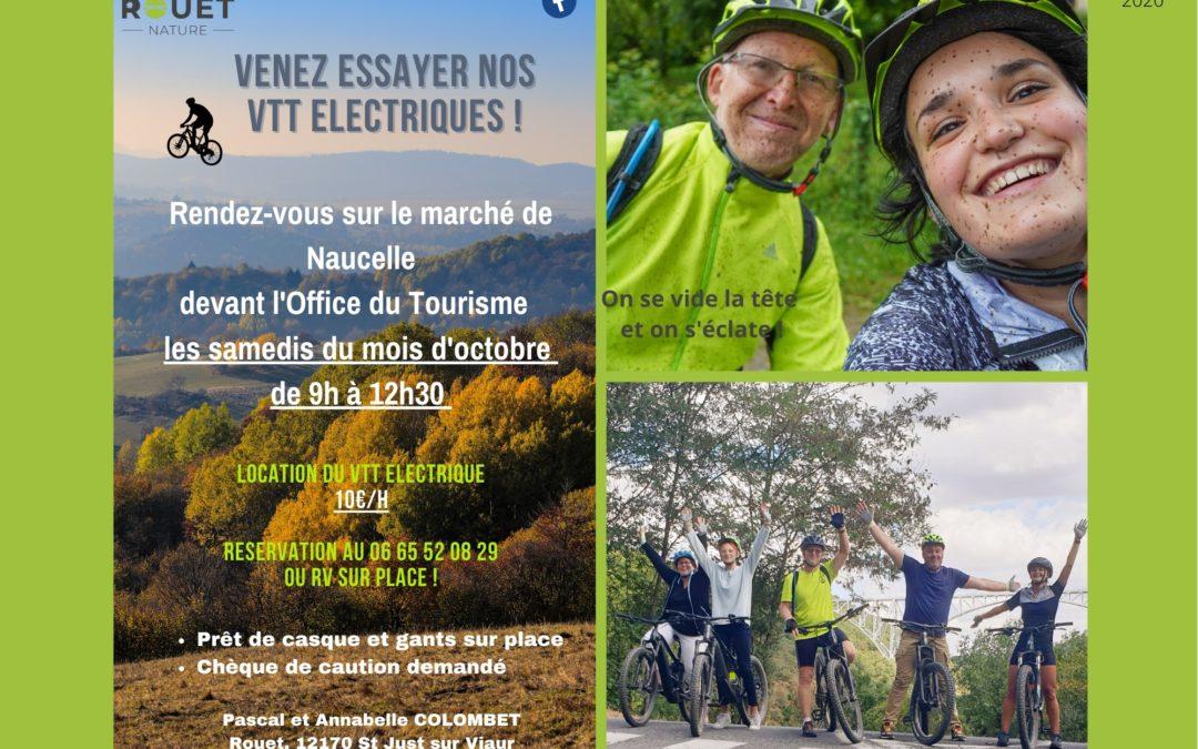 Venez essayer nos VTT Electriques à Naucelle !